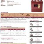 Аккумулятор TROJAN T105 Характеристики
